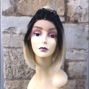 Braiding blonde ombré bob wig 2020 Lacefront